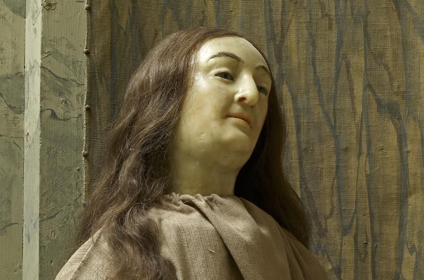 Sibylla Augustas Ebenbild aus Wachs, eine der Figuren der Maria Magdalena; Foto: Staatliche Schlösser und Gärten Baden-Württemberg, Arnim Weischer